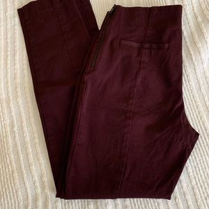A new day burgundy pants size: 2